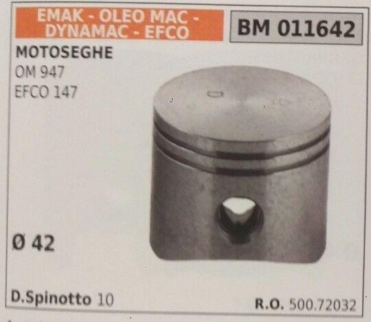 50072032 PISTONE COMPLETO MOTOSEGA EMAK DYNAMAC OLEOMAC OM 947 EFCO 147 Ø 42