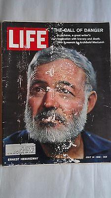 Ernest Hemingway FRIDGE MAGNET life magazine