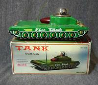 Vintage Made In China Tin Toy Sparkling Tank Mf 956 Friction Powered