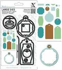 DOCRAFTS XCUT LARGE DIE SET 3D EVERYDAY GIFT TAG CUTTING DIES NEW UNIVERSAL FIT
