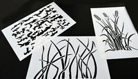 3pack Vinyl Airbrush Stencil Kit 10 Mil - 14x9 Grass Bark Camouflage Duracoat