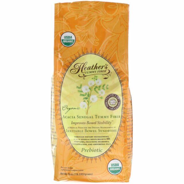 Heather s Tummy Care Organic Acacia Senegal Tummy Fiber 16 oz 453 g Gluten-Free,