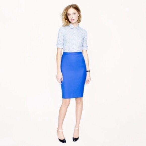 J. Crew No.2 Pencil Skirt in Bi-Stretch Cotton