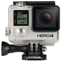 GoPro HERO4 Black Edition HD Action Video Camera + GoPro Dual Battery Charger + GoPro LCD Touch BacPac