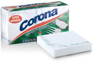 Tovaglioli Doppio Velo Corona 20 Confezioni da 90 Tovaglioli Made in Italy