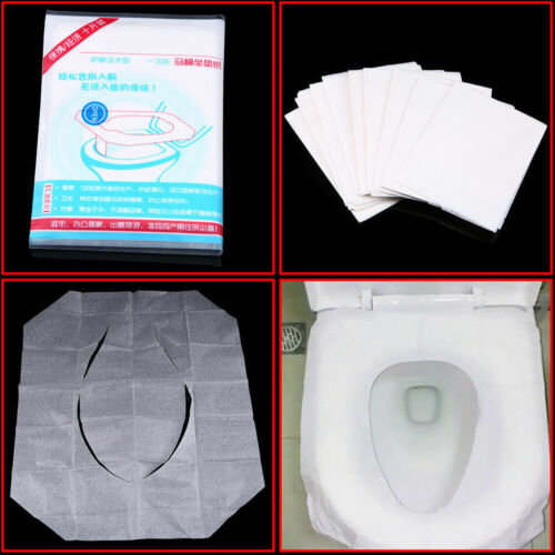 Disposable Paper Toilet Seat Cover Flushable Closestool Mat Travel Sanitary New