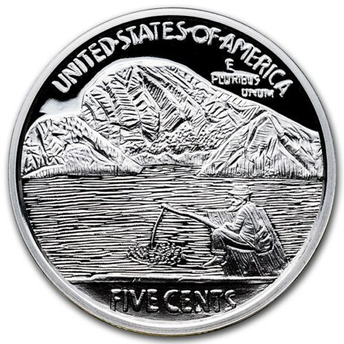 """Limited Edition Hobo Nickel Art Round /""""The Fisherman/"""" 2016 1oz .999 Silver"""