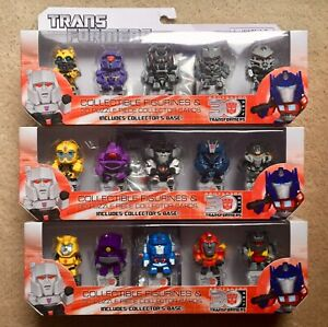 Transformers 2014 30th Anniversary Figurines + 3D Puzzle Piece Collector's Cards