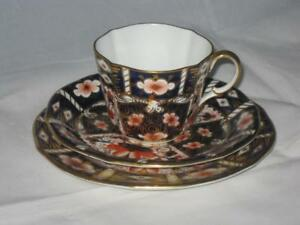 Royal Crown Derby 2451 Traditional Imari Trios (Cup, Saucer & Tea Plate) d.1925