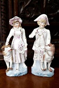 A Pair of Antique German Porcelain Figurines - <span itemprop=availableAtOrFrom>Watton, Norfolk, United Kingdom</span> - Returns accepted Most purchases from business sellers are protected by the Consumer Contract Regulations 2013 which give you the right to cancel the purchase within 14 days after  - Watton, Norfolk, United Kingdom
