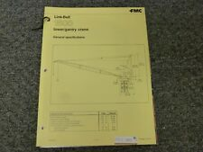 Link Belt 1500 Tower Gantry Crane Specifications Amp Lifting Capacities Manual