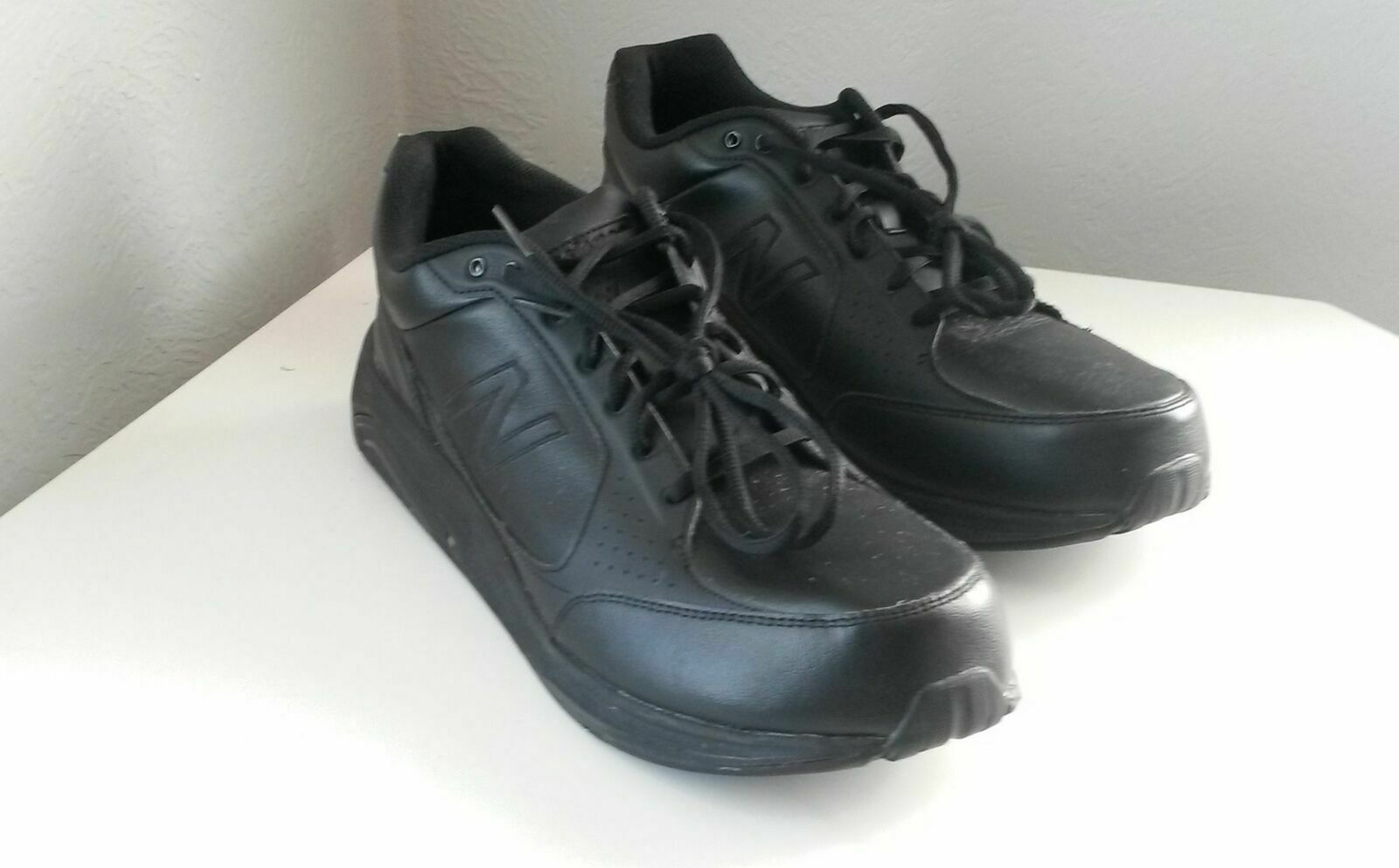 New Balance MW928BK Black Leather Lace Up Waling Men's shoes Sz US14  171