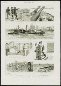 1889-Antique-Print-HAMPSHIRE-PORTSMOUTH-SPITHEAD-NAVAL-MANOEUVRE-IRONCLAD-216