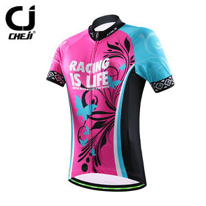 CHEJI Women s Cycling Jersey Mountain Bike Clothing Bicycle Shirt ... bae88e175