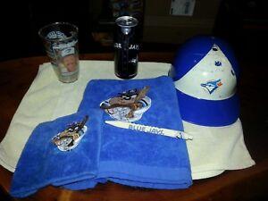 Toronto-Blue-Jays-Collection-of-Towel-Helmet-Pen-pop-can-Glass