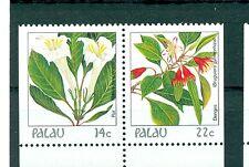 FIORI - FLOWERS PALAU 1987 Common Stamps Pair