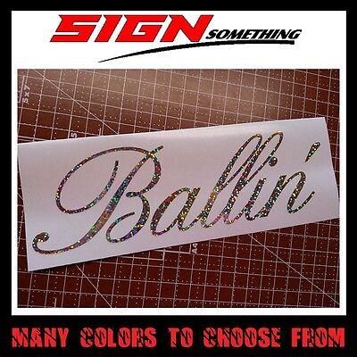 vinyl *Multiple colors /& Sizes* ballin balling budget decal Broke sticker