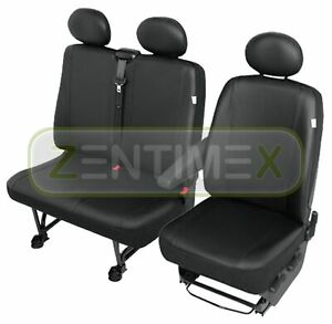Sitzbezüge Schonbezüge SET GD VW Crafter Kunstleder grau