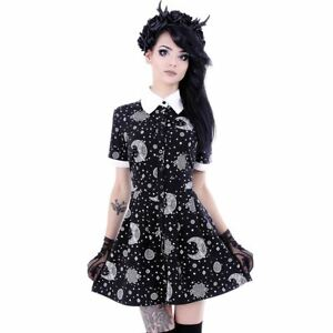Restyle-Hippie-Moon-amp-Sun-Magic-Occult-Witch-NuGoth-Collared-Babydoll-Dress