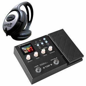 NUX Mg-300 Multi Effect Unit for Guitar KEEPDRUM Headphones