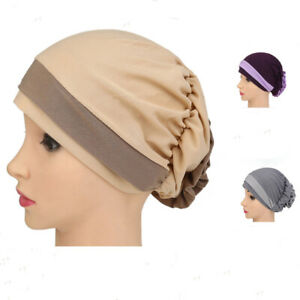Lady-Thin-Hats-Flower-Pattern-Cap-Plate-Beanies-Slik-Hat-Headwear-Accessories-BS