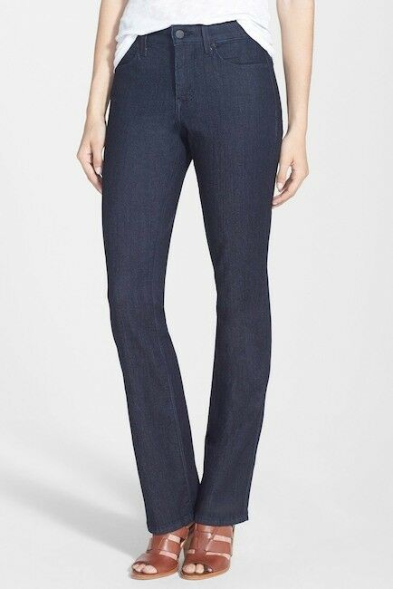 NYDJ BILLIE MINI BOOTCUT JEANS - NWT - SIZE 2 REGULAR - DARK ENZYME
