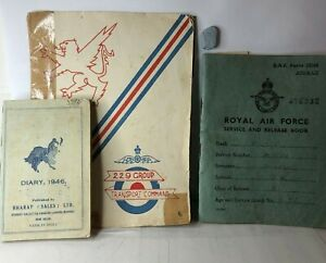 1945-48-RAF-Royal-Air-force-Service-amp-Release-Book-1946-Diary-service-India