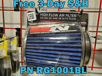 """K/&N 3/"""" to 4/"""" Round Tapered Universal Air Intake Cone Filter Chrome Car//Truck//SUV"""