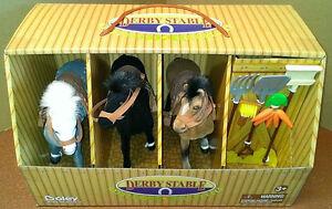 Horse stable jouet-trois chevaux & cinq accessoires-pony club ** cadeau **  </span>