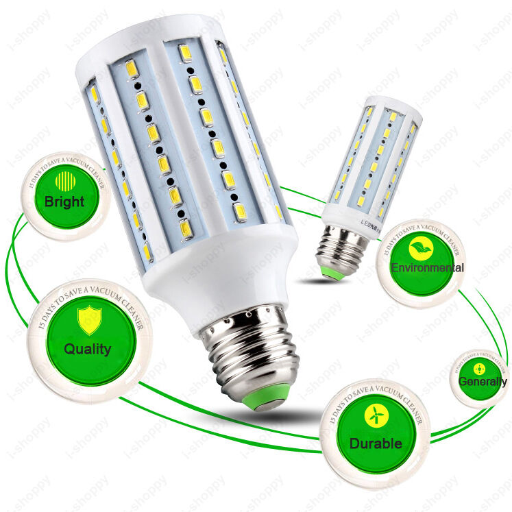 LED Corn Light Bulb 5730 SMD Lamp E27 E14 B22 Hi-Bright Living Room 360 Beam