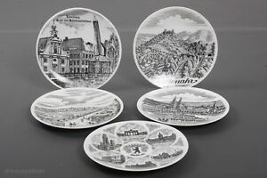 5 Stück Zierteller Sammelteller Wandteller ø20 cm Porzellan siehe Bilder