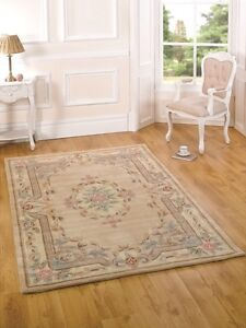Beige French Style Vintage Floral Mat Thick Premium