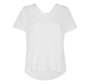Whistles - - Lace Back Relaxed T-Shirt - Weiß - New with tag - Größe S - 8 - 10