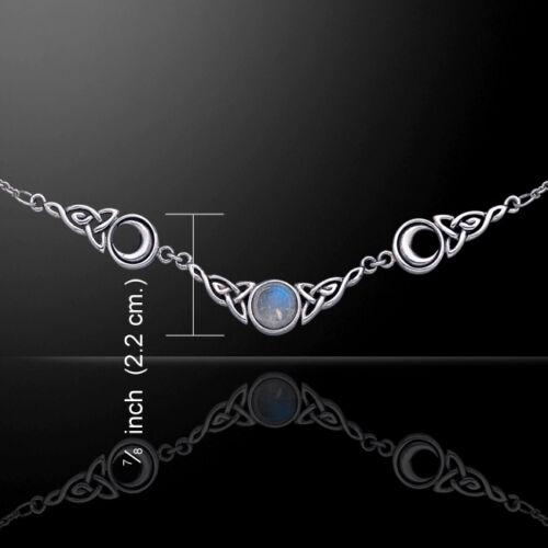 Magick Lune .925 argent sterling Collier Choix De Pierres Précieuses par Peter Stone