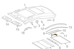 MB-C-CL203-Left-Side-Interior-Roof-Coupling-A2038950105-NEW-GENUINE-SET-OF-4