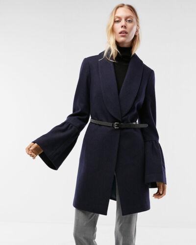 Express Manteau bleu marine manches à 198Moyen châle cloche New à col OPkn0w
