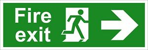 Feu Sortie De Sécurité Signes-running Man Arrow Right (divers Tailles Disponibles)-afficher Le Titre D'origine Jjkme2st-07212959-775269594