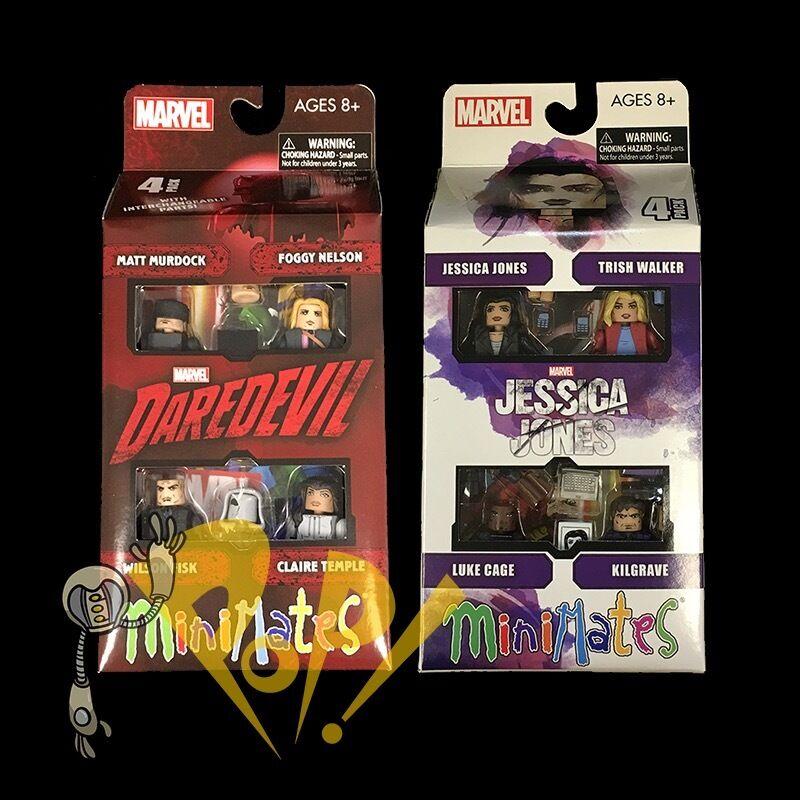 MARVEL Minimates JESSICA JONES & DAREDEVIL Box Set Lot NETFLIX Sealed Series 1