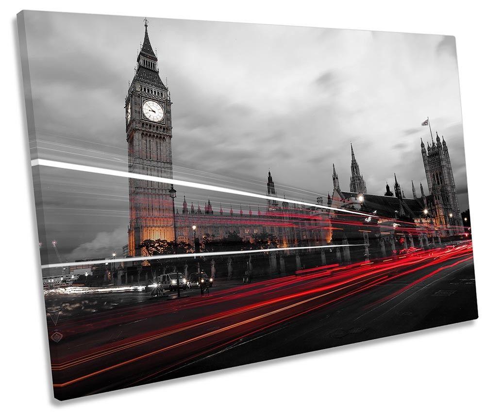 Il traffico di LONDRA LONDRA LONDRA BIG BEN Foto Tela Singola Wall Art Print e26a06