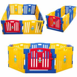 8 10 Panel Nursery Fence Adjustable Baby Playpens Kids
