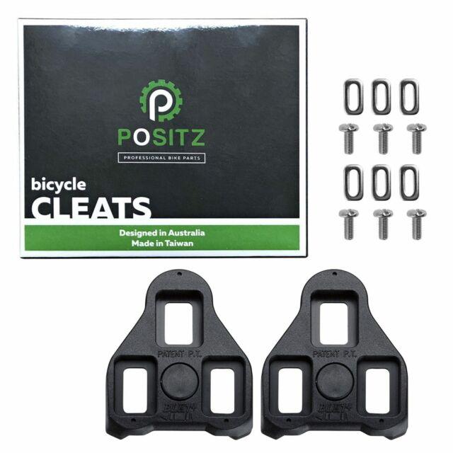 Float Road Bike Cleats fits Look Keo Black 0-Degree Exustar E-BLK11 Fixed