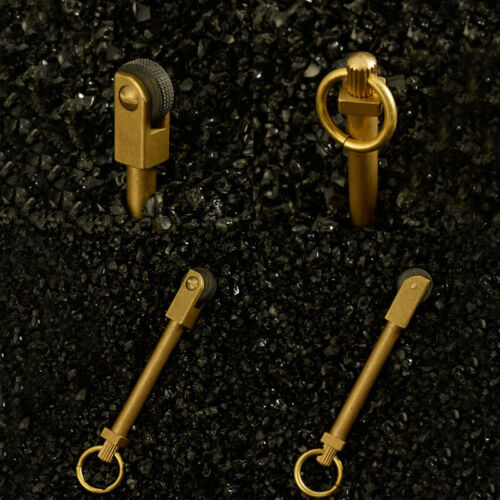 2×Mini EDC Brass Gear Spark Wheel Fire Starter Lighter Survival Outdoor Keychain