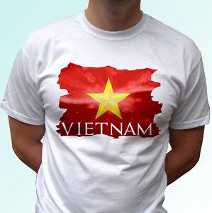 a5092252910 Vietnam flag white t shirt top tee country design - mens womens kids ...