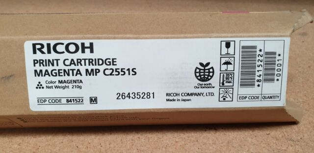 Genuine Ricoh 841522 Magenta Toner MP C2551S Brand New Check Description See Pic