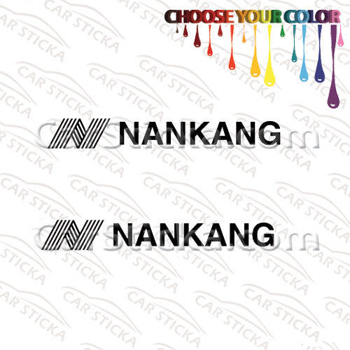 "2 of 8/"" Nankang Tires aftermarket car window bumper vinyl sticker decal die cut"