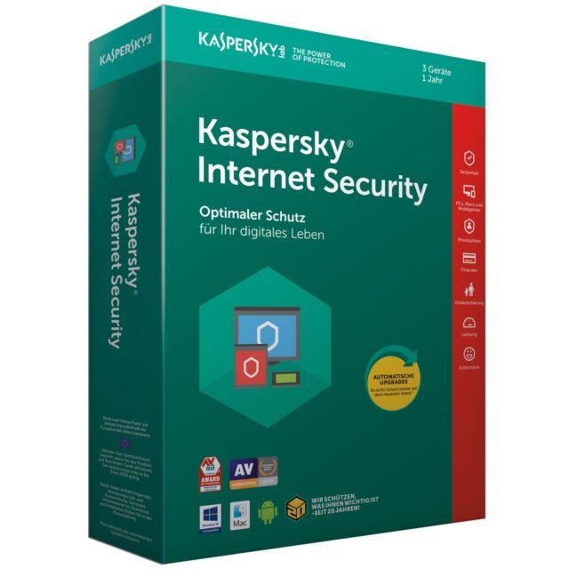 Kaspersky Internet Security 3 PC / Geräte 1 Jahr 2019 Multi-Device DE-Lizenz