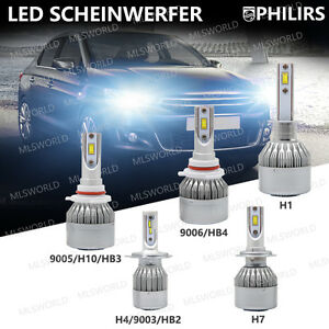 180w h1 h3 h4 h7 philips led scheinwerfer birnen headlight. Black Bedroom Furniture Sets. Home Design Ideas