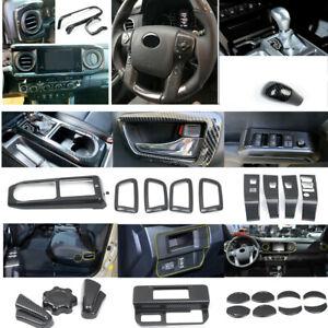 Carbon Fiber Accessories Interior Kit Cover Trims 27pcs For Toyota Tacoma 16-20