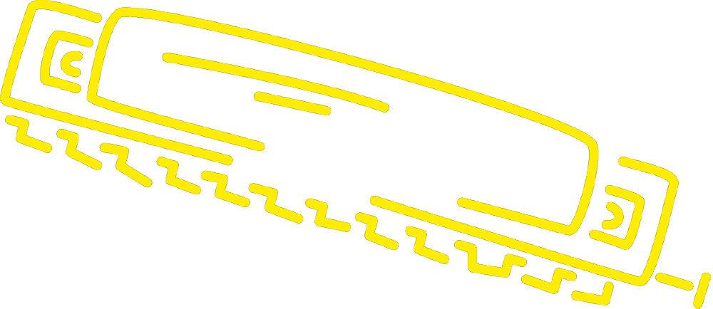 (AP0668 gelb) Applikation Dekor • Mundharmonika • versch. Größen | Förderung  | Erste Qualität