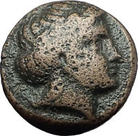 OLYNTHOS MACEDONIA 420BC Chalkidian League Apollo Lyre Ancient Greek Coin i60889